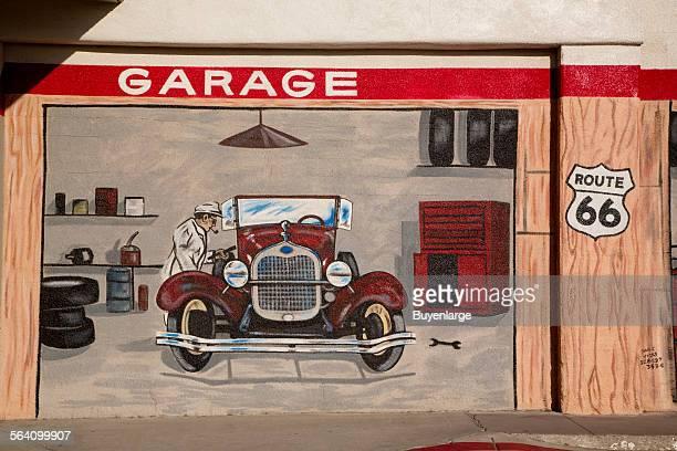 Garage Route 66 mural in Needles California