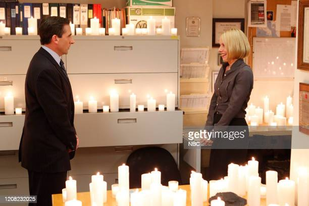 THE OFFICE Garage Sale Episode 719 Pictured Steve Carell as Michael Scott Amy Ryan as Holly Flax