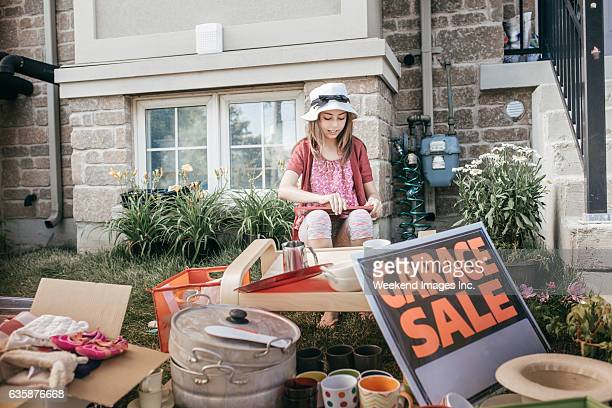 garage sale - garage sale stock pictures, royalty-free photos & images