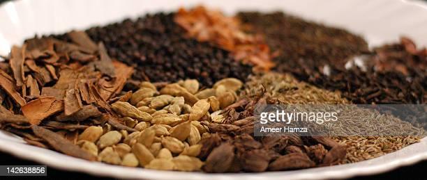 garam masala ingredients - garam masala stock photos and pictures