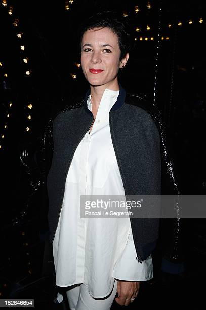 Garance Dore attends the Louis Vuitton show as part of the Paris Fashion Week Womenswear Spring/Summer 2014 at Le Carre du Louvre on October 2 2013...