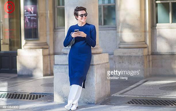 Garance Dore during the Paris Fashion Week Womenswear Spring/Summer 2016 on October 2 2015 in Paris France
