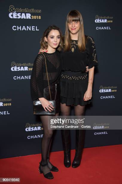 Garance Marillier and Alice Winocour attend the 'Cesar Revelations 2018' Party at Le Petit Palais on January 15 2018 in Paris France