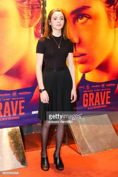 Garance Marillier attends the Grave Paris Premiere at UGC Cine Cite des Halles on March 14 2017 in Paris France