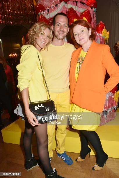 Garance Primat Robin Fournier Bergmann and Irina Rasquinet attend 'Le Bal Jaune 2018' 20th Anniversary at Hotel Salomon de Rothschild on October 19...