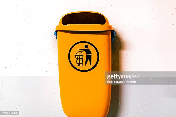 garbage bin over white background - garbage bin stock pictures, royalty-free photos & images