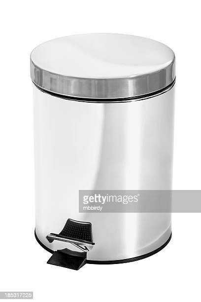Garbage can, isolated on white, clipping path