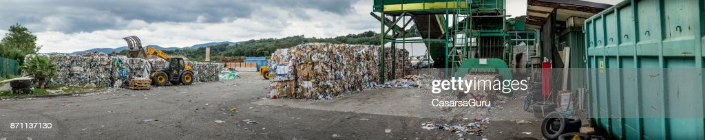Garbage Collection Center : Stock Photo