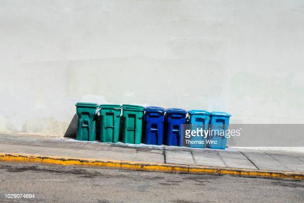 garbage containers - rubbish bin stock pictures, royalty-free photos & images