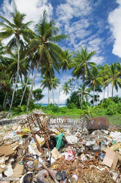 Garbage Dump Near Beach on Funafuti Atoll