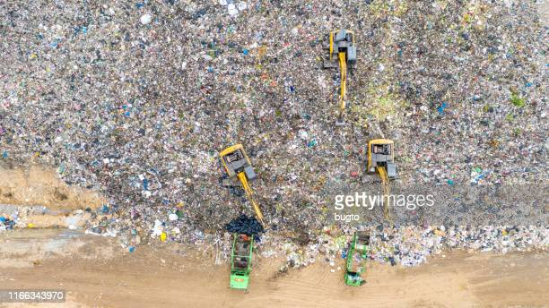 garbage factory at the cityscape - rubbish stock pictures, royalty-free photos & images
