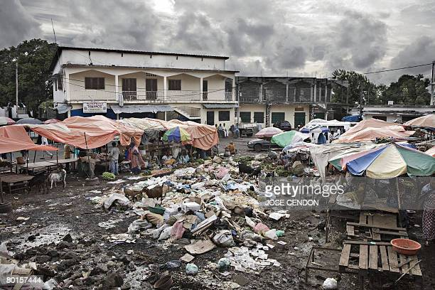 A garbage heap is seen in the middle of Moroni's market on March 7 2008 The government of the Indian Ocean archipelago of Comoros said today it will...