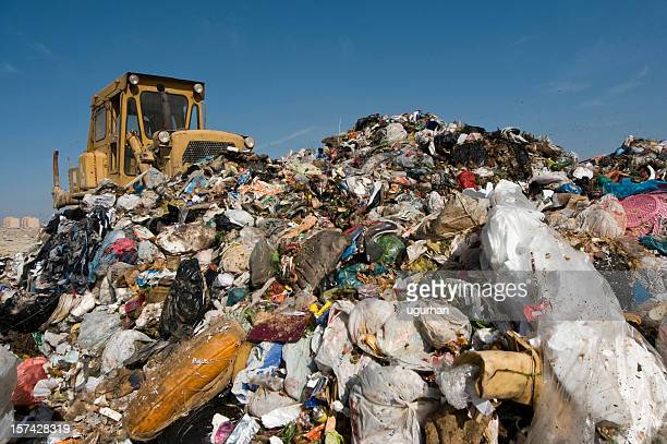 garbage mountain - dump stock photos and pictures