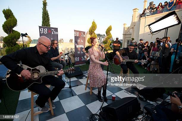 Garbage perform at 987 FM's Penthouse Party Pad at The Historic Hollywood Tower on May 31 2012 in Hollywood California