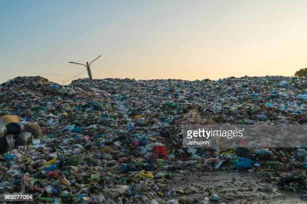 Garbage pile in trash dump - landfill