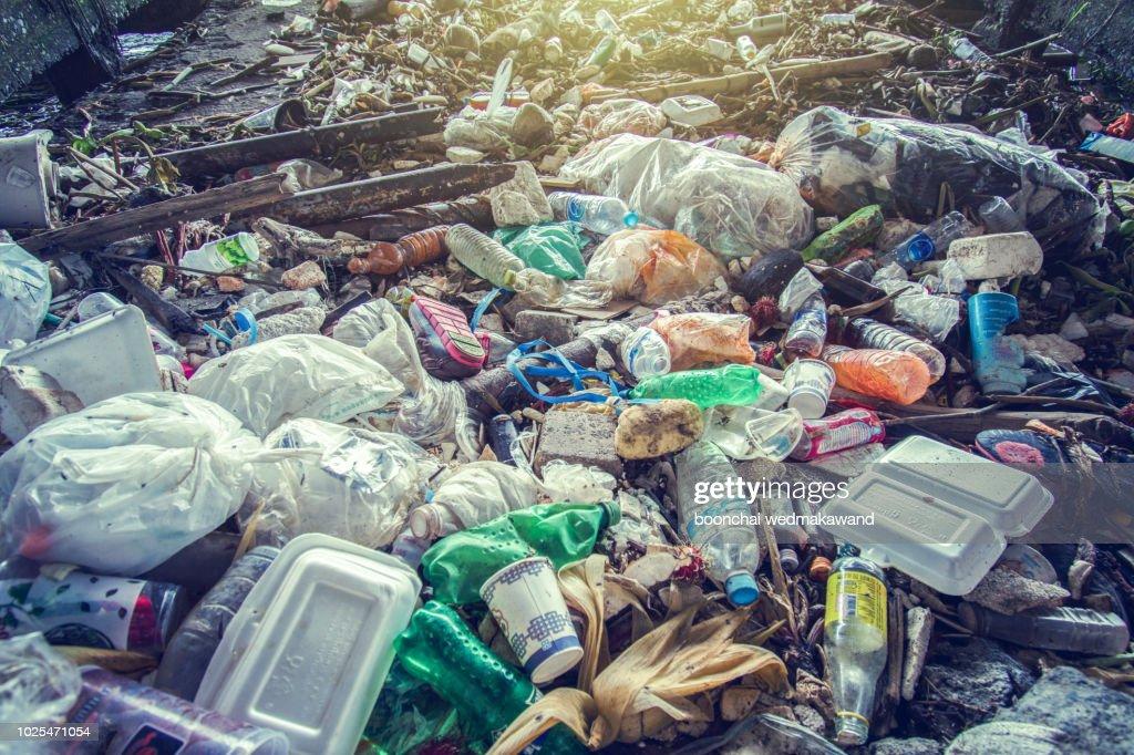 Garbage, pollution, Global warming : Stock Photo