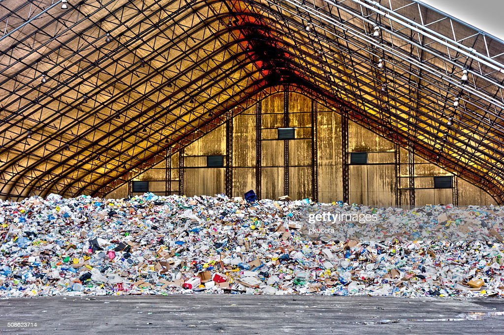Garbage Shelter : Stock Photo