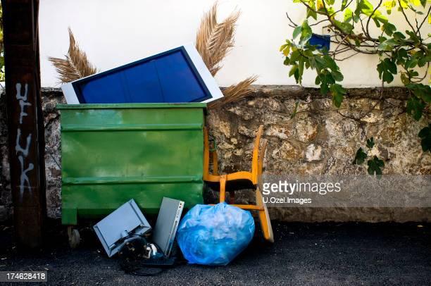 Garbages auf street