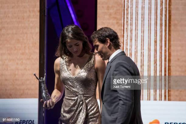 Garbiñe Muguruza and Rafael Nadal receive the best sportwoman and sportman of the year award during the 70th Mundo Deportivo Gala on February 5 2018...