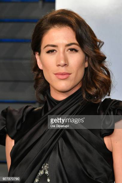 Garbiñe Muguruza attends the 2018 Vanity Fair Oscar Party hosted by Radhika Jones at Wallis Annenberg Center for the Performing Arts on March 4 2018...