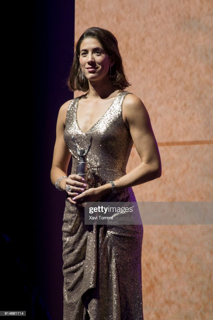 Garbiñe Muguruza receives the best sportwoman of the year award during the 70th Mundo Deportivo Gala on February 5, 2018 in Barcelona, Spain.