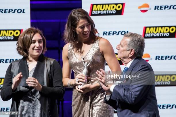 Garbiñe Muguruza receives the best sportwoman of the year award during the 70th Mundo Deportivo Gala on February 5 2018 in Barcelona Spain