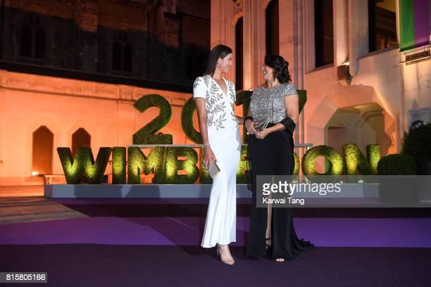 Garbine Muguruza and Conchita Martinez attend the Wimbledon Winners Dinner at The Guildhall on July 16 2017 in London England