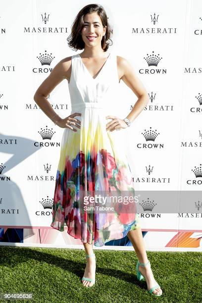 Garbine Muguruza arrives ahead of the 2018 Crown IMG Tennis Player at Crown Palladium on January 14 2018 in Melbourne Australia