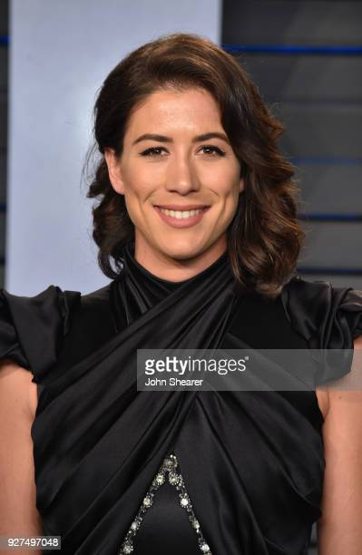Garbine Muguruza attends the 2018 Vanity Fair Oscar Party hosted by Radhika Jones at Wallis Annenberg Center for the Performing Arts on March 4 2018...