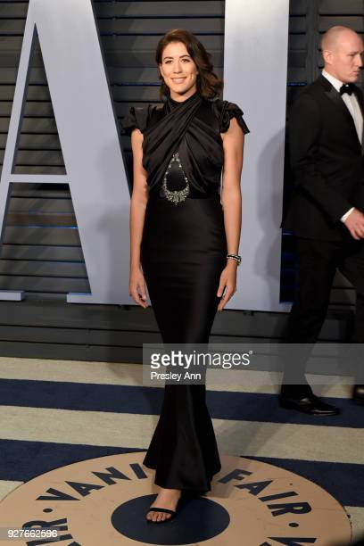 Garbine Muguruza attends the 2018 Vanity Fair Oscar Party Hosted By Radhika Jones Arrivals at Wallis Annenberg Center for the Performing Arts on...