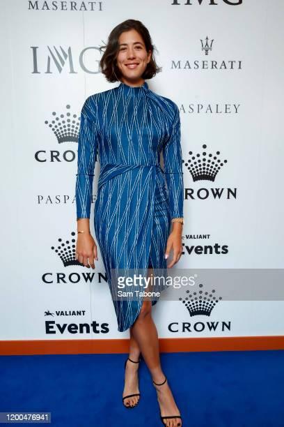 Garbine Muguruza attends the Crown IMG Tennis Party on January 19, 2020 in Melbourne, Australia.