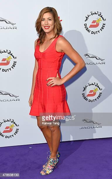 Garbine Muguruza attends the WTA PreWimbledon Party at Kensington Roof Gardens on June 25 2015 in London England