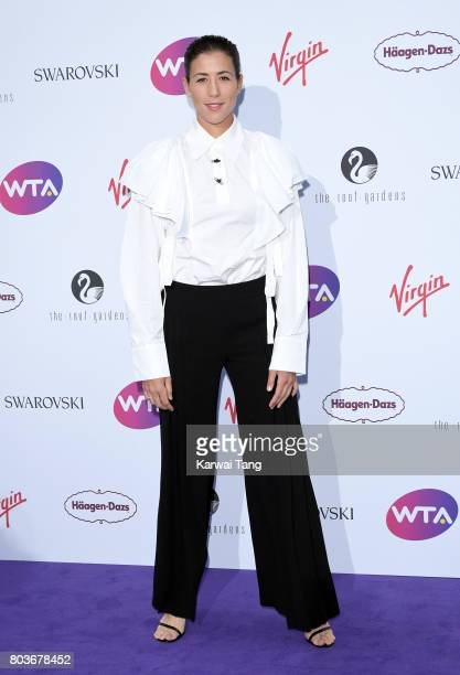 Garbine Muguruza attends the WTA PreWimbledon party at Kensington Roof Gardens on June 29 2017 in London England
