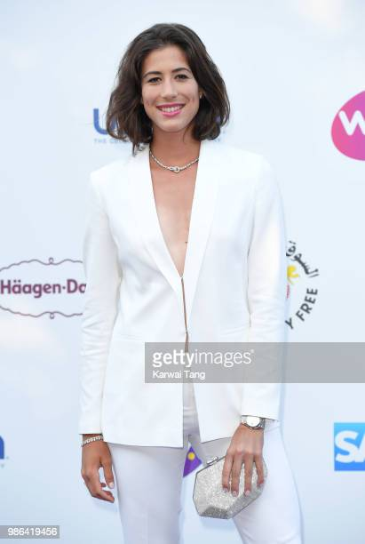 Garbine Muguruza attends the WTA's 'Tennis On The Thames' evening reception at Bernie Spain Gardens South Bank on June 28 2018 in London England