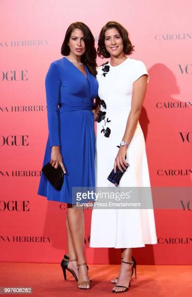 Garbine Muguruza attends Vogue 30th Anniversary Party at Casa Velazquez on July 12 2018 in Madrid Spain