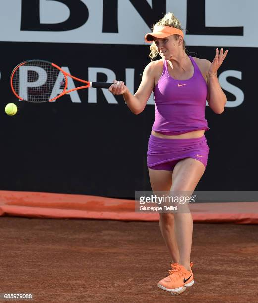 Garbine Muguruza of Espana in action during the women's semifinal match between Garbine Muguruza of Espana and Elina Svitolina of Ukraine during The...