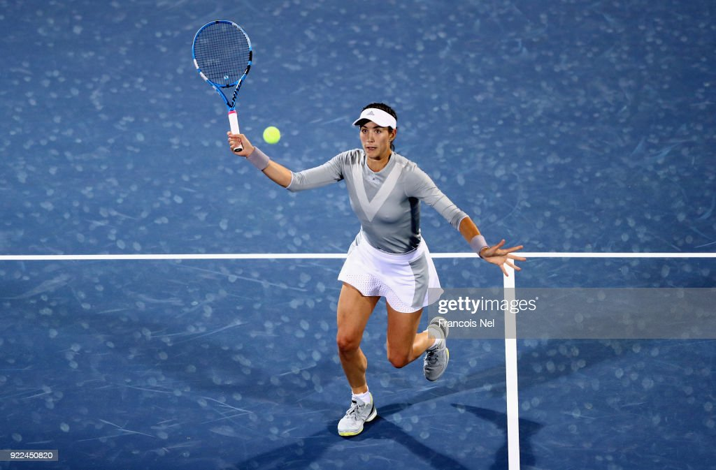 WTA Dubai Duty Free Tennis  Championship - Day Three : Fotografía de noticias