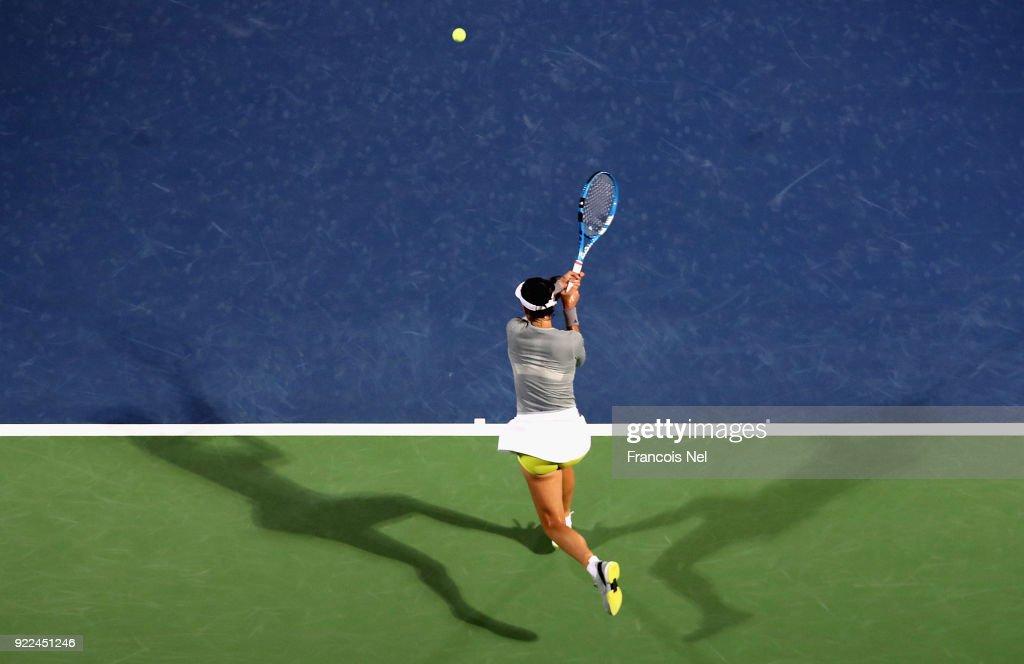 WTA Dubai Duty Free Tennis  Championship - Day Three : Nachrichtenfoto