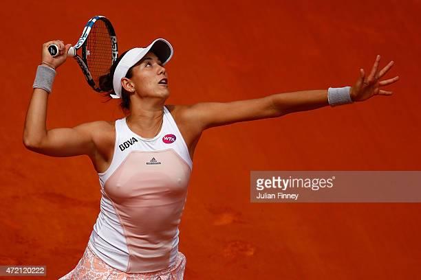 Garbine Muguruza of Spain in action against Svetlana Kuznetsova of Russia during day three of the Mutua Madrid Open tennis tournament at the Caja...