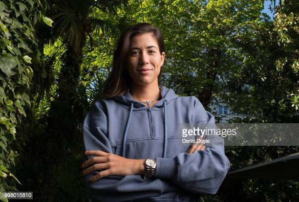 Garbine Muguruza of Spain is photographed during a photo session on April 16 2018 in Madrid Spain