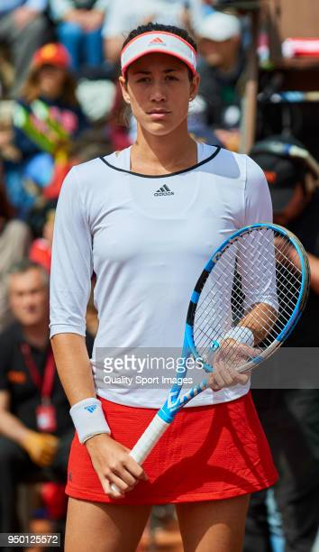 Garbine Muguruza of Spain pose for a photo before her match against Veronica Cepede of Paraguay during day two of the Fed Cup by BNP Paribas World...