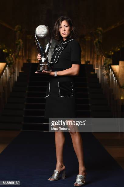 Garbine Muguruza of Spain poses for a portrait prior to attending the players' party during day one of the Toray Pan Pacific Open Tennis at Grand...