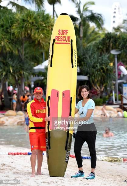 Garbine Muguruza poses for a photo at the Southbank Beach ahead of the 2018 Brisbane International on December 29 2017 in Brisbane Australia