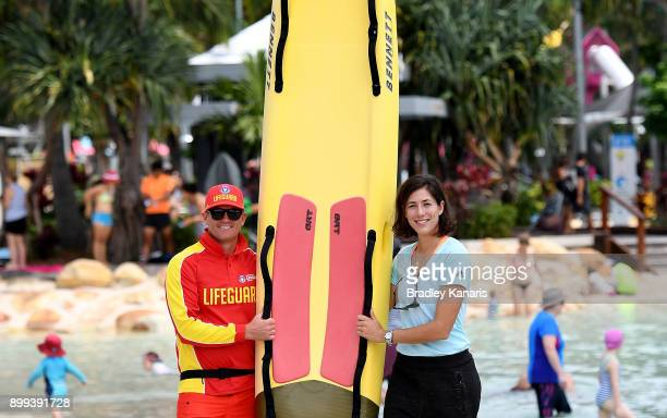 Garbine Muguruza poses for a photo on Streets Beach at Southbank ahead of the 2018 Brisbane International on December 29 2017 in Brisbane Australia