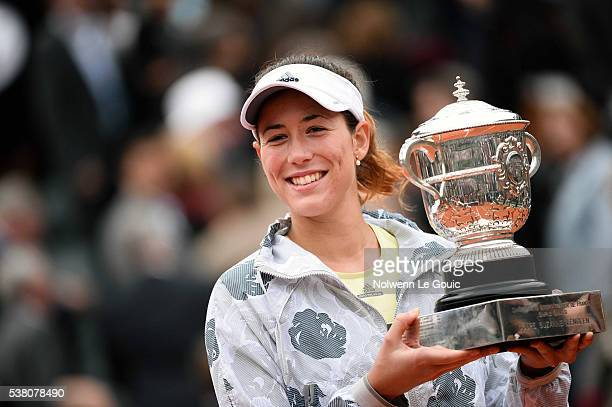 Garbine Muguruza with Roland Garros trophy during the day fourteen of the French Open 2016 at Roland Garros on June 4 2016 in Paris France