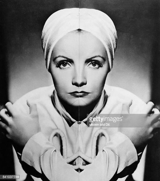 Garbo Greta *Schauspielerin Schweden kleines fotografisches Experiment zur vermeintlichen Symmetrie des Gesichtes die linke Gesichtshaelfte und ihr...