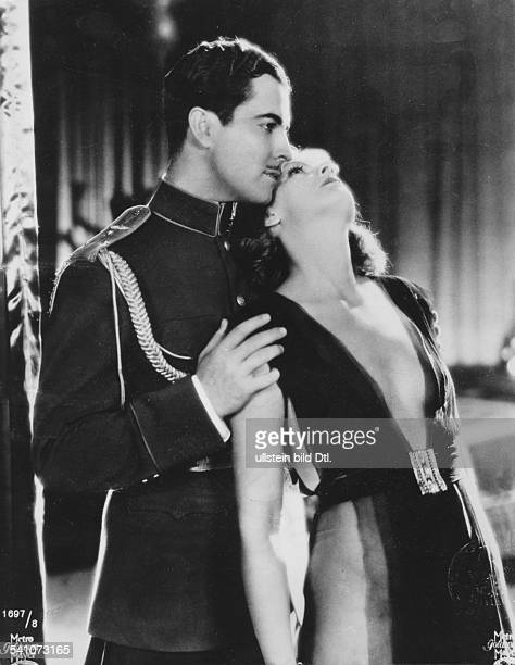 Garbo Greta Actress Sweden * with John Gilbert as Vronsky in the film 'Love' Directed by Edmung Goulding Dimitri Buchoweitzki USA 1927 Film...