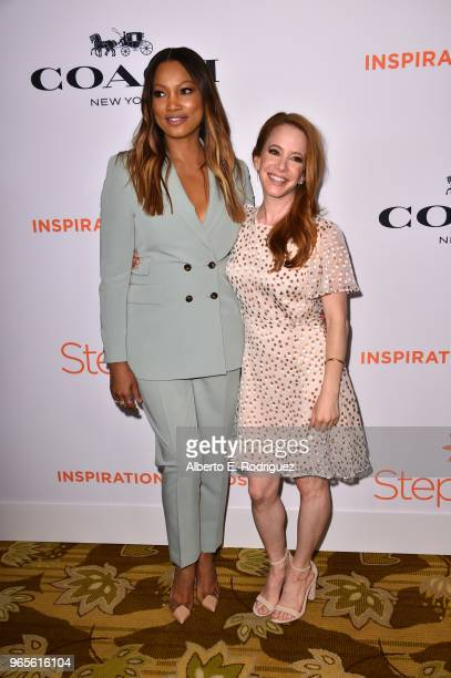 Garcelle Beauvais and Amy Davidson attend Step Up's 14th annual Inspiration Awards at the Beverly Wilshire Four Seasons Hotel on June 1 2018 in...