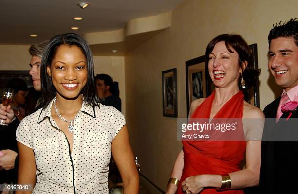 Garcelle Beauvais and Erica Courtney during Erica Courtney Oscar Collection in Pink, Sponsored By Perrier-Jouet Champagne in Los Angeles, California,...