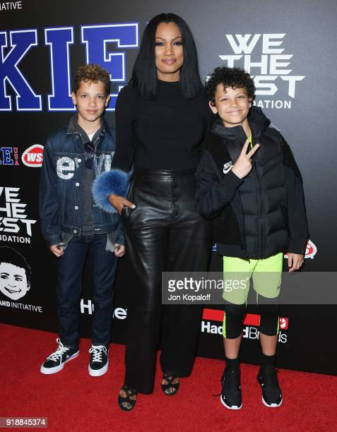 Garcelle Beauvais and family attend ROOKIE USA Fashion Show at Milk Studios on February 15 2018 in Hollywood California